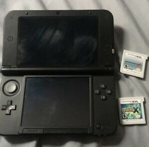 Nintendo 3D LX and two games Pokémon X and Mario kart7