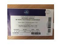Antony Joshua tickets. £350 each..