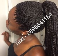 VERY NEAT BOX BRAIDS AND SENEGALESE TWISTS FOR $100