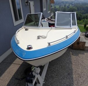 16' Cal Glass Boat, '92 70 HP Force Mercury Outboard & Trailer