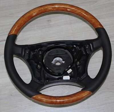 Lenkrad KASTANIE CHESTNUT Leder SCHWARZ Mercedes W220  C215 W215 CL