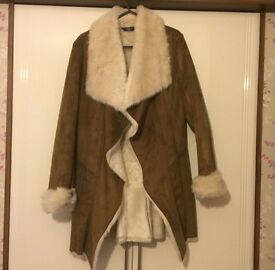 Suede with fur lining coat **REDUCED**