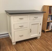 Beautiful Wheaton's Kitchen island in white