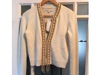 NEW! Micheal Kors Cardigan with Gold Chain Detail