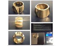 18k Gold Versace Diamond Ring