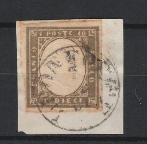 FRANCOBOLLI 1861 SARDEGNA C:10 GRIGIO OLIVASTRO SCURO Z/5905 - Italia - L'oggetto può essere restituito - Italia