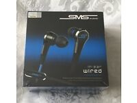 Brand new SMS in-ear, wired audio
