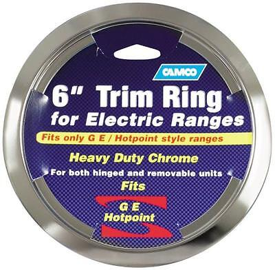 Drip Pan Ring (CAMCO 00303 6 INCH CHROME OVEN STOVE DRIP PAN BOWL TRIM RING GE HOTPOINT 6836712)