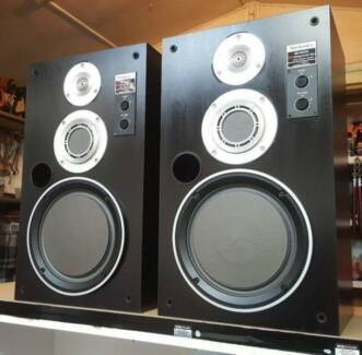 VINTAGE TECHNICS 3 WAY/HONEYCOMB DISC SPEAKERS/MADE IN JAPAN