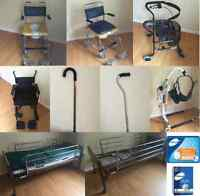 Caregiver SALE: bed, lifter, commode, wheelchair, walker, cane..