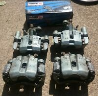 Miata brake calipers Hawk pads rotors
