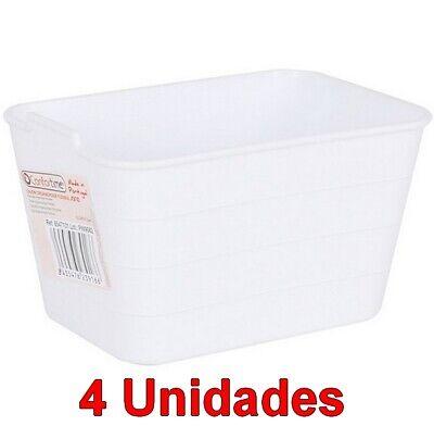 Set 4 Unidades de caja cesta Organizador Multiusos flexible 3,5 x 9...