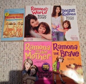 "5 ""Ramona"" books by Beverly Cleary"