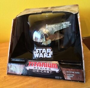 Star Wars Titanium Series SLAVE I - MIB - Boba Fett