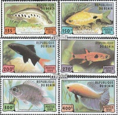 Benin 1163-1168 (compleet Kwestie) MNH 1999 Aquariumvissen