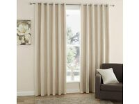 "2 pairs of 90"" cream curtains"