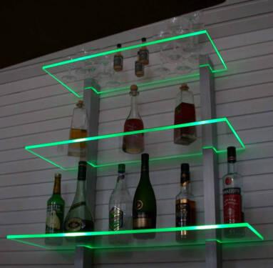 bar regal led beleuchtet ideal f r flaschen oder gl ser in. Black Bedroom Furniture Sets. Home Design Ideas