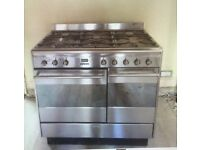 Used SMEG 90X60 Dual Fuel Range Cooker - Stainless Steel