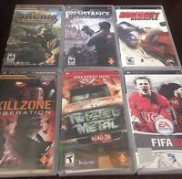 6 PSP Games. Adult owned. Works like new.