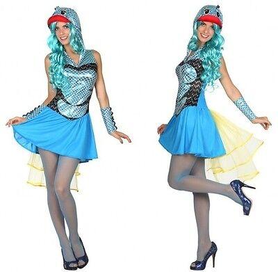 Kostüm Frau Fisch DORY blau XS/S 36/38 Kostüm Animal Film neu