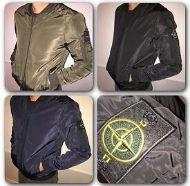 Body fitted stone island jacket available different sizes and colours