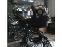 Babystyle pram prestige spot on black