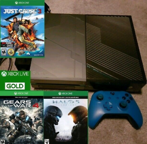 Limited Edition HALO 5 XBOX One 1TB bundle w 3 games and Gold