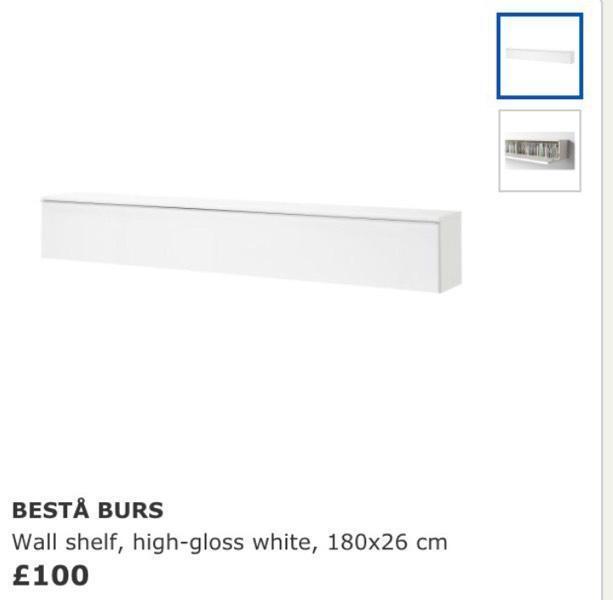 Besta Burs Wall Shelf Besta Burs Wall Shelf Unit