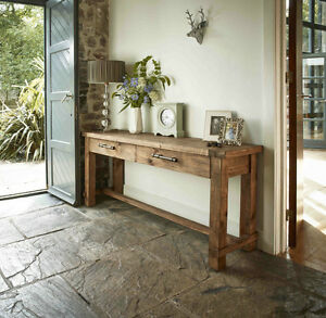 BRAND NEW!  Solid Reclaimed Pine Wood Console Table!
