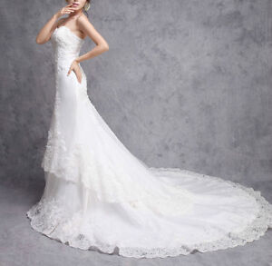 High quality Wedding Dress @$299 ONLY (custom made & brand new) London Ontario image 2