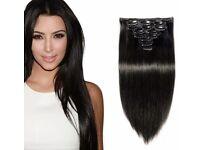 Premium hair extensions clip in