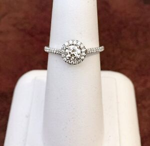 14K GOLD HALO .97CTW. DIAMOND ENGAGEMENT RING*Appraised @ $4900