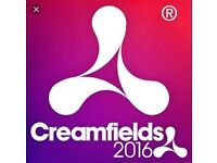 Creamfields festival 2 day standard camping x2