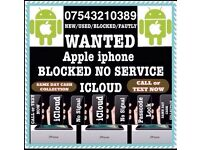 Wanted iPhone Working Cracked/Smashed N O Signal CASH PAID NOW