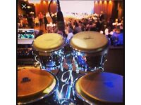 Bongo Sax Player Percussionist available wedding club bar restaurant