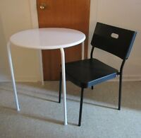 Small table and small chair - go wherever they are told