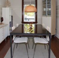 EQ3 modern glass dining room table