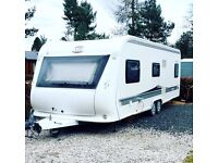 2009/2010 HOBBY 640 VIP TWIN AXLE TOURING CARAVAN - FIXED BED - STUNNING!