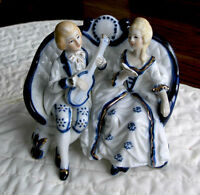Victorian Man playing Music To His Sweetheart (Ceramic Piece)