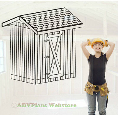 6X8 GABLE STORAGE SHED, 26 OUTDOOR SHED PLAYHOUSE PLANS, BUILD A CUSTOM SHED CD