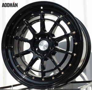 18x9.5 +30 in 5x114.3 - NEW Black - Subaru / Honda / VW / + MORE London Ontario image 3