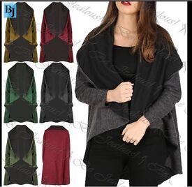 Ladies oversized cape cardigan baggy