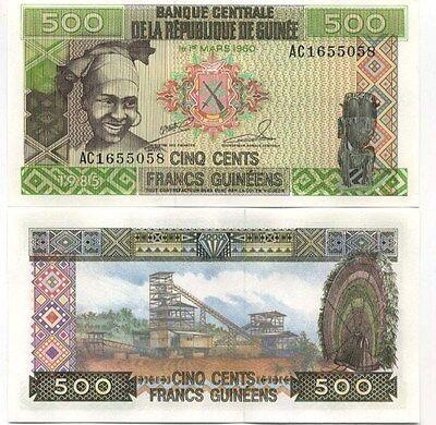 Guinée - Guinea billet neuf de 500 francs pick 31 UNC