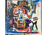 Jean Michel Basquiat homage Acrylic on Canvas 60x 60