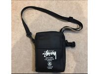 Stussy side bag black pouch