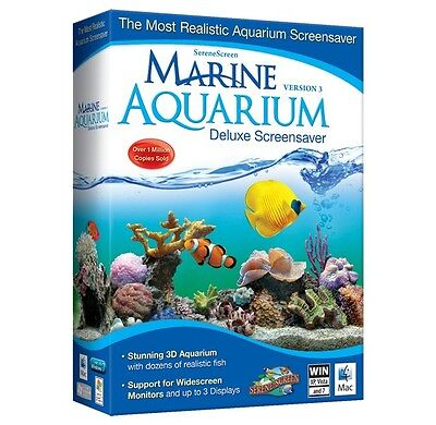 Avanquest Marine Aquarium Deluxe 3 Aqua Marine Screensaver Realistic Fish Coral
