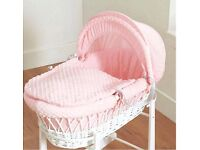 Wicker Moses Basket & Rocking Stand