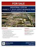 INDUSTRIAL LOTS IN PHASE 7,8,& 9 LEDUC BUSINESS PARK FOR SALE