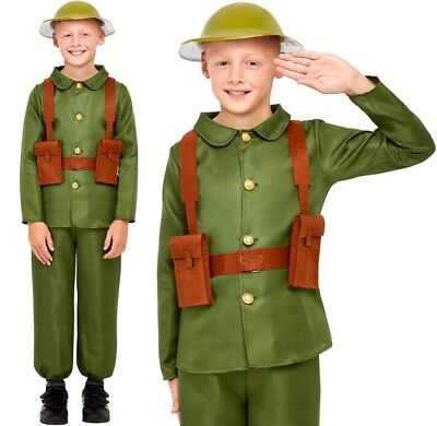 Childs WW1 Army Soldier Fancy Dress Costume Boys Soldier Uniform New by Smiffys - Ww1 Soldier Costume