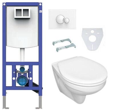Sanit WC Komplettset Vorwandelement Drückerplatte Wand-WC Sitz INEO PLUS